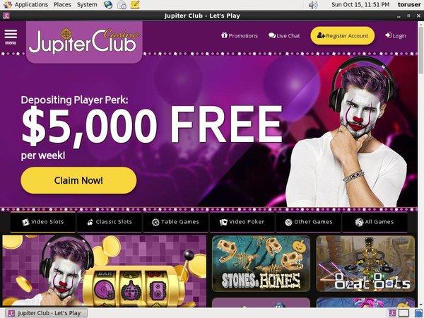 Freespins Jupiter Club