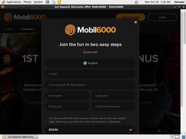 Mobil6000 Welcome Bonus Offer