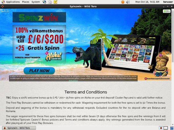 Spinz Win Best Bingo Sites