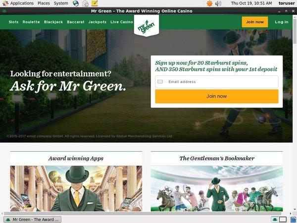 Mrgreen Sign Up Offer