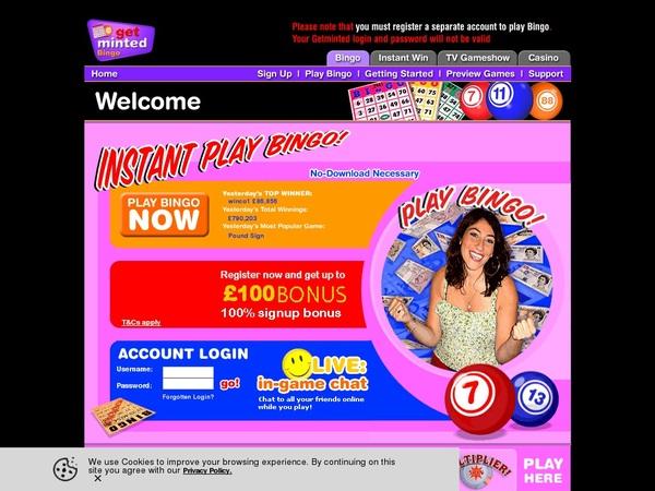 Get Get Minted Bingo Bonus