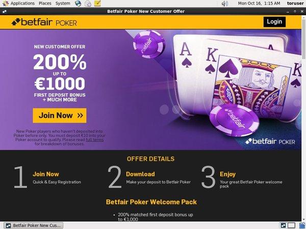 Betfair Poker Deposit Phone Bill