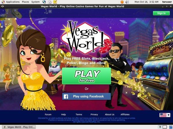 Vegas World Paypal Transfer