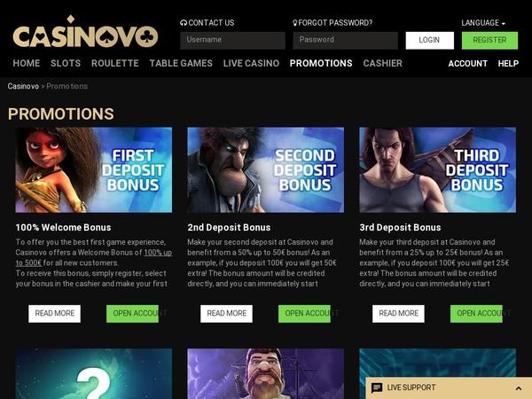 Casinovo Promotions Vegas