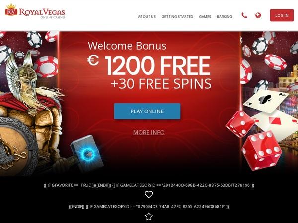 Royal Vegas Casino Join Up Bonus