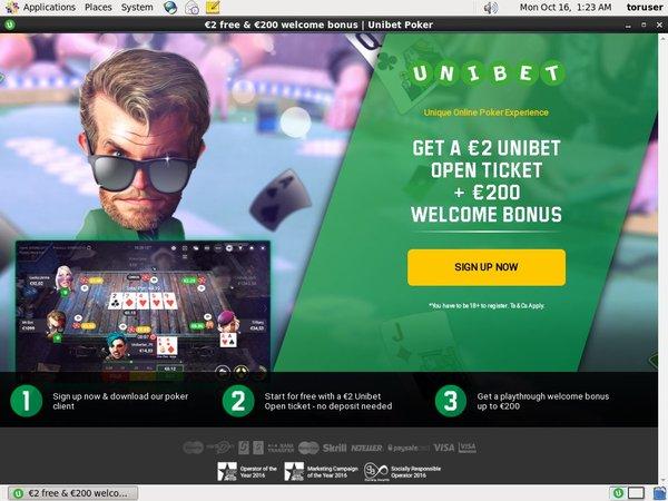 Unibet Poker Betting Slip