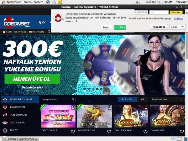 Odeonbet Casino Sign Up Promo