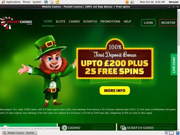Pocket Casino Ruleta En Vivo