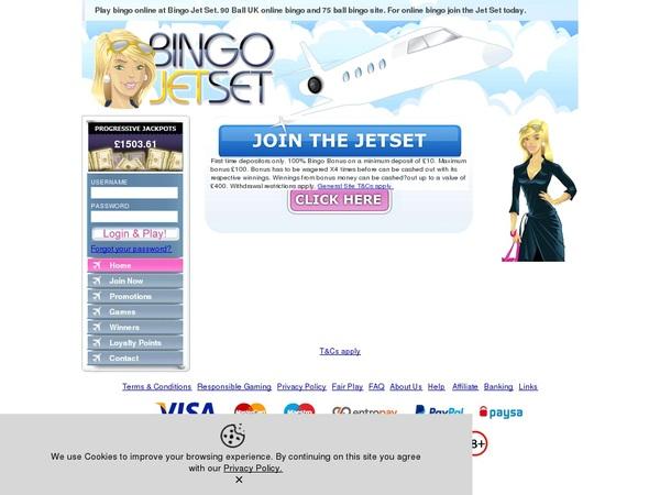 Bingo Jetset Coupons