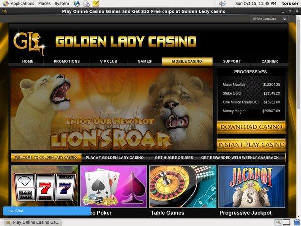 Goldenladycasino Livescore