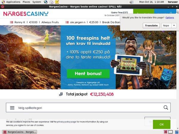 Norges Casino Joining Bonus