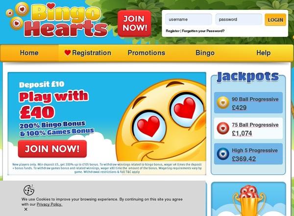 Bingo Hearts No Limit