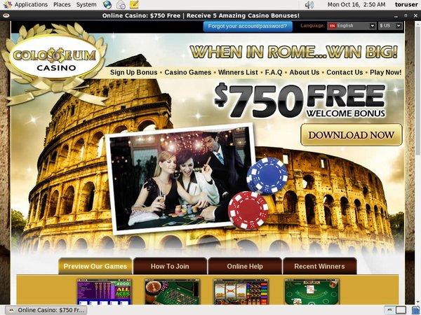 Colosseumcasino Free Rolls