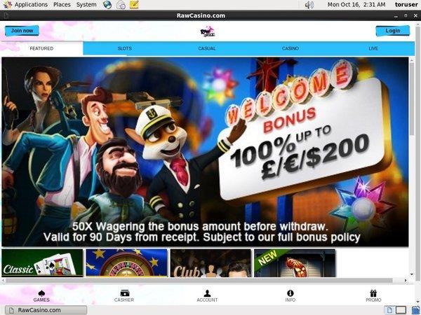 Raw Casino Promo Code